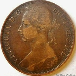 Victoria - One Penny 1891 - Kingdom of G...