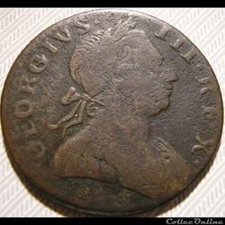 1772 ? Half Penny No Regal - George III ...