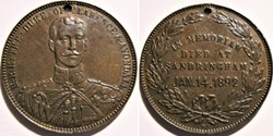 Prince Albert Victor - Token of his deat...