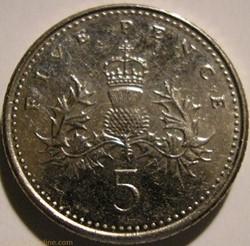 Elizabeth II - 5 Pence 2008 - UK