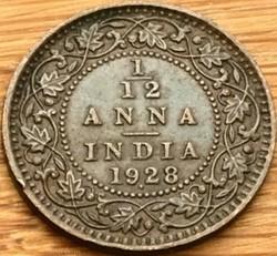 George V - 1/12 Anna 1928 Bombay - Briti...