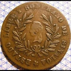 México - 1/4 Real 1859 Estado Sinaloa - ...