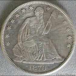 1870 S - Half Dollar