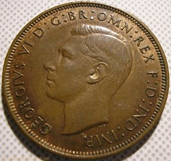 George VI - One Penny 1947 - UK