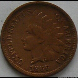 1866 One Cent