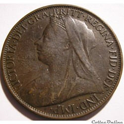 Victoria - One Penny 1900 - Kingdom of Great Britain