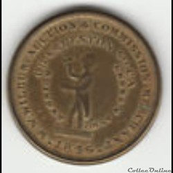 1846 Cent Token - Slaves Auction