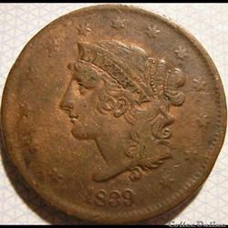1839 One Cent