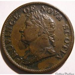 George IV - HalfPenny Token 1832 Nova Scotia