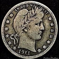 1911 Quarter Dollar