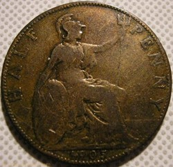 Edward VII - Half Penny 1905 - Great Bri...