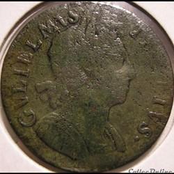 William III - HalfPenny 1698 Kingdom of ...