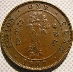 George VI - One Cent 1937 - Ceylon / Sri...