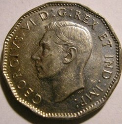George VI -  5 Cents Victory 1945