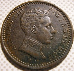 1904 - 2 Centimos - Alfonso XIII de Espa...