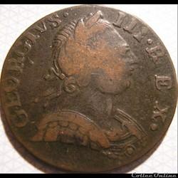 1775 Half Penny No Regal - George III of...