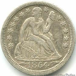 ←1854→ o Dime / 10 Cents