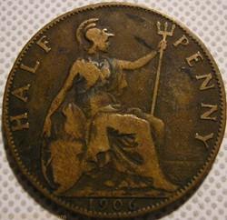 Edward VII - Half Penny 1906 - Great Bri...