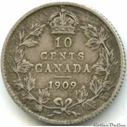 Edward VII - 10 Cents 1909