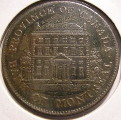 Montreal 1844 Half Penny - Token Bank - ...