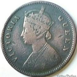 Victoria - One Quarter Anna 1876 - British India