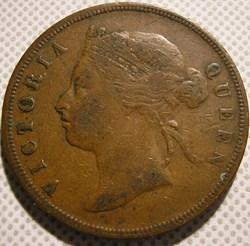 Victoria - One Cent 1874 - Straits Settl...