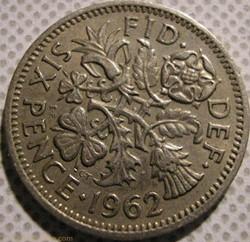 Elizabeth II - 6 Pence 1962 - UK