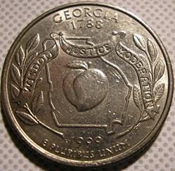 1999 P Quarter Dollar - Georgia State