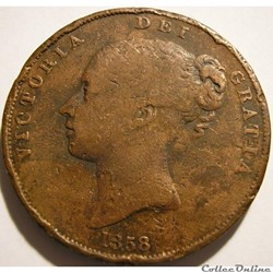 Victoria - One Penny 1858 - Kingdom of G...