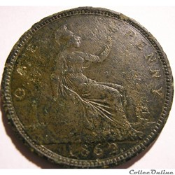 Victoria - One Penny 1862 - Kingdom of G...