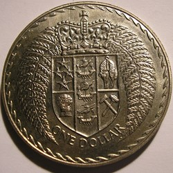 Elizabeth II - 1 Dollar 1971 - New Zeala...