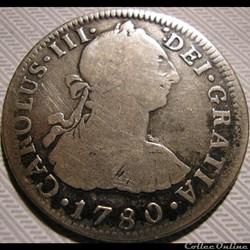 México - 2 Reales 1780 Mexico (Colonial) - Carlos III de España