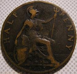 Edward VII - Half Penny 1902 - Great Bri...