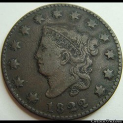 1822 One Cent
