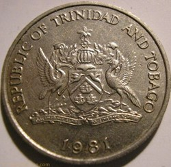 Trinitad & Tobago - 25 Cents 1981