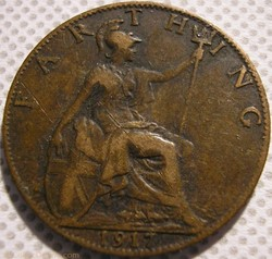 George V - Farthing 1917 - Great Britain