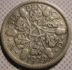 George V - 6 Pence 1929 - Great Britain