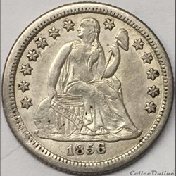 1856 o Dime / 10 Cents