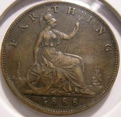 Victoria - One Farthing 1888 - Kingdom o...