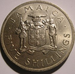 Jamaica - 5 Shillings 1966 - VIII Common...