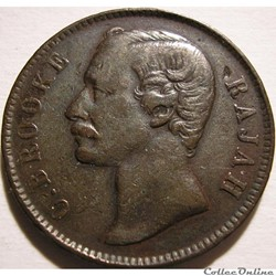 Charles Brooke - One Cent 1891 H - Rajah of Sarawak