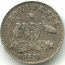 George V - Three Pence 1912 Sydney - Aus...