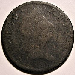 1775 George III Rules - HalfPenny Token,...