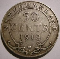 George V - 50 Cents 1918 Newfoundland (e...