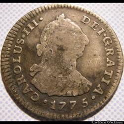 Peru - 1 Real 1775 Lima - Carlos III de España