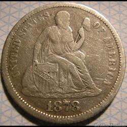 1878 Dime / 10 Cents