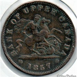 Upper Canada - 1857 One Penny Bank Token, St. George