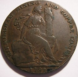 1792 HalfPenny – Mining & Copper Co - Bi...