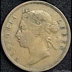 Victoria - One Cent 1883 - Établissements des détroits, Malaisie.