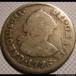 Bolivia - 1/2 Real 1776 Potosi - Carlos III de España